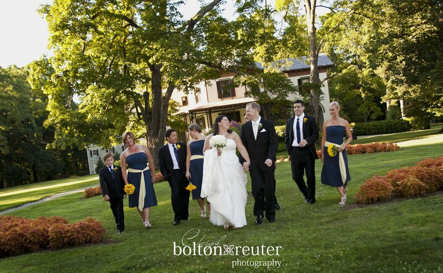 Photos by the historic mansion