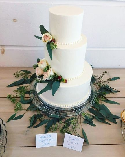 Small 3-Tier With Flowers