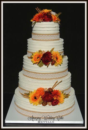 Fall Buttercream - Wedding Cake Rental