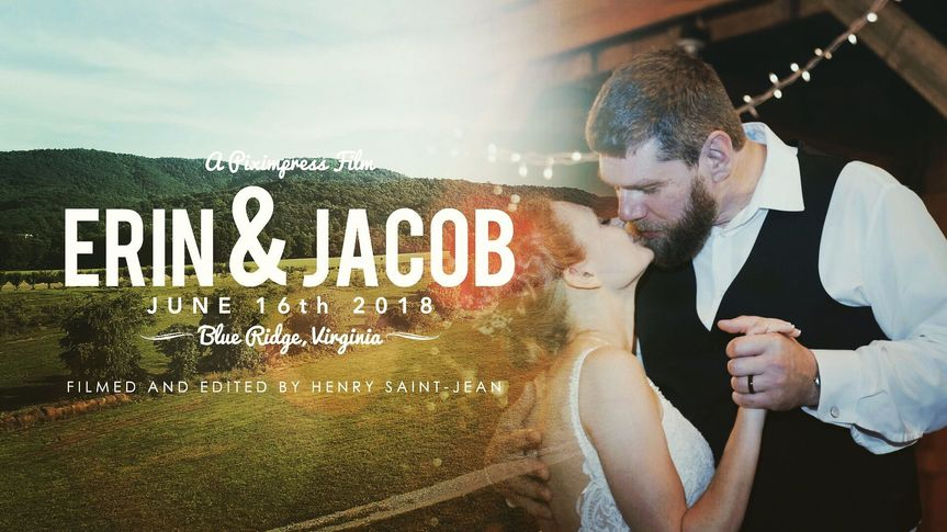 Erin and Jacob's film cover