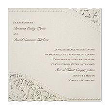 Classy white invite