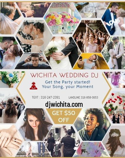 Wichita Wedding DJ $50 off