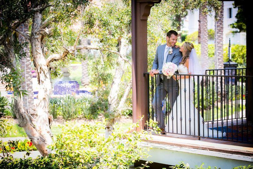 Beautiful couple on a balcony