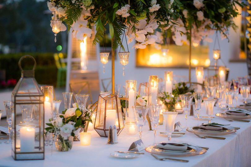 Reception candle set up