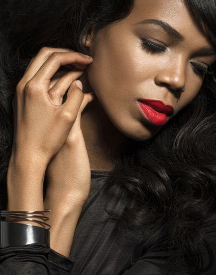 Classic Beauty with Red Lip