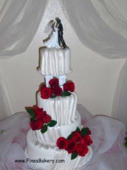 Tmx 1306087702802 WeddingCakeDrapesHR11 West Hills wedding cake