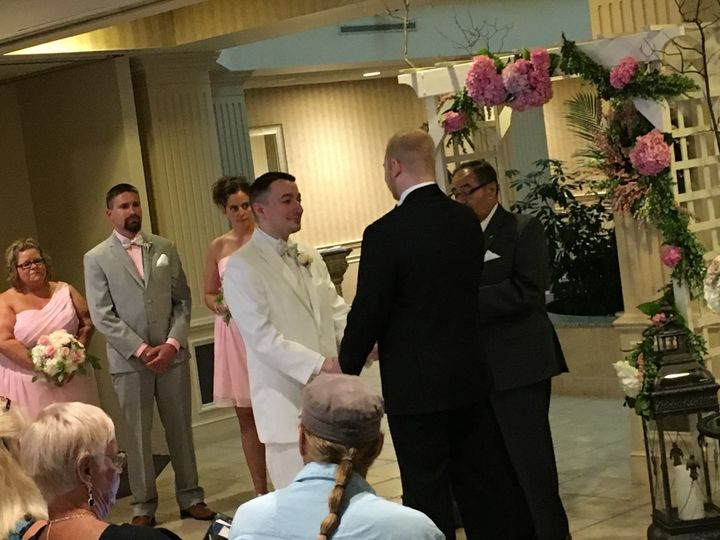 Groom and father meeting