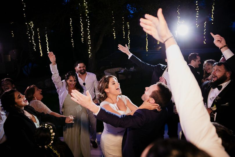 Santa Barbara wedding dancing
