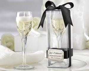 """Let's Celebrate!"" Champagne Flute Gel Candle 