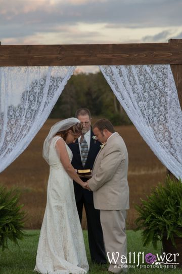 Wedding Ceremony at The Hayloft at Port Royal Photographed by Wallflower Wedding Photography