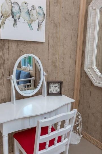 Bride's vanity table closeup