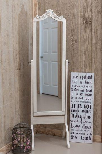 Bride's floor mirror