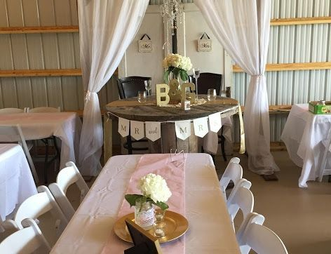 Sweetheart table w/spool