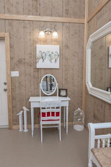 Bride's vanity table