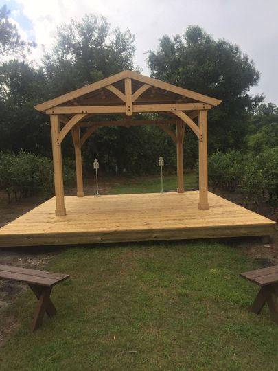Open air wedding chapel