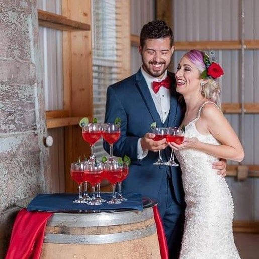 Couple giving a toast | Photo credit to Gonzalez Lugo Photography