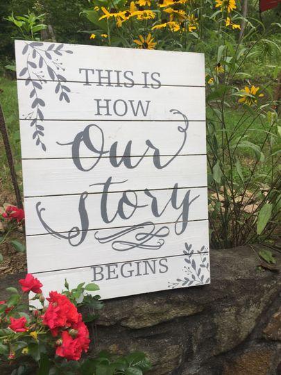 Sample sign board