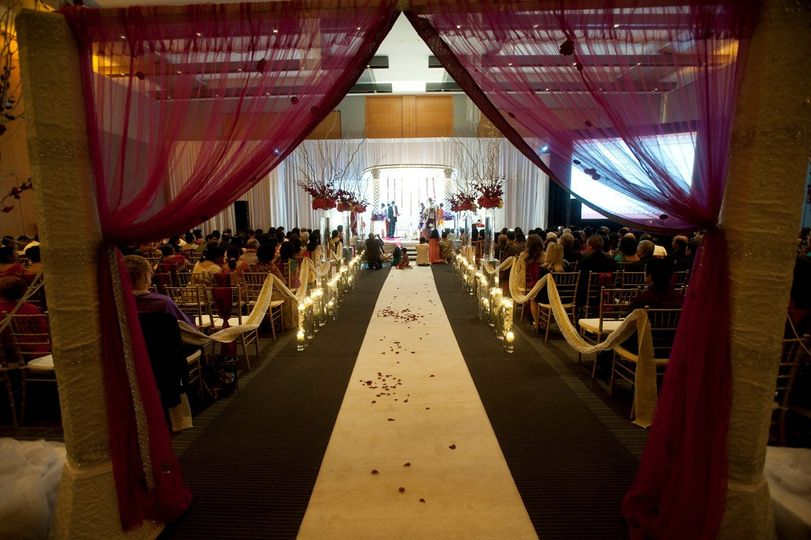 Entrance and wedding aisle