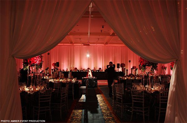 Reception hall design and decor