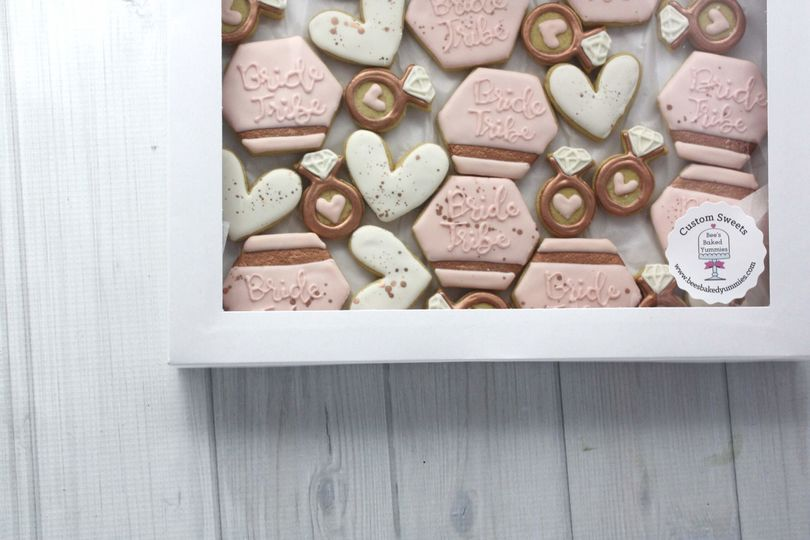 Blush Bride Tribe Cookies