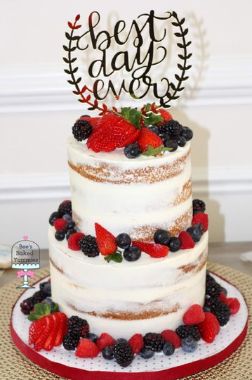 Semi-naked Vanilla Berry Cake