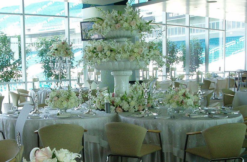 A cream and white wedding