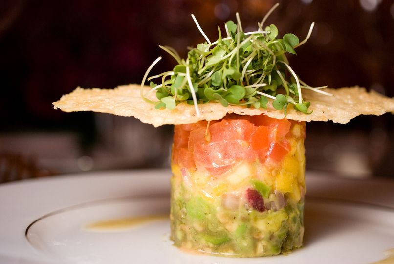 Heirloom tomato salad timbale