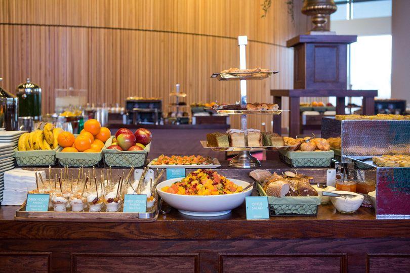 Buffet table