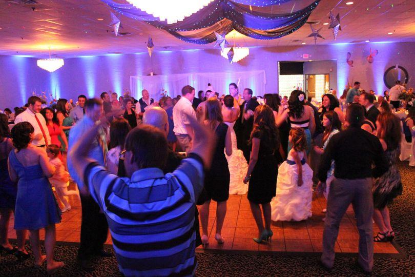 DJ Ray K, reception with Uplighting at Mr Anthony's, Boardman, Ohio