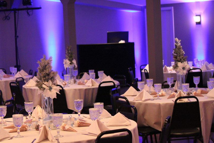 DJ Ray K reception with Uplighting at Gatherings Banquet Center in New Castle, PA