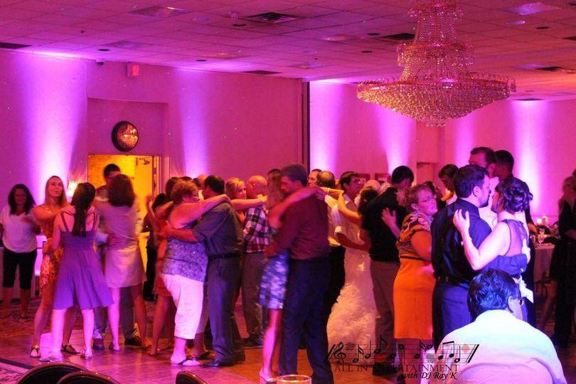 DJ Ray K reception with Uplighting at Holiday Inn, Boardman, Ohio