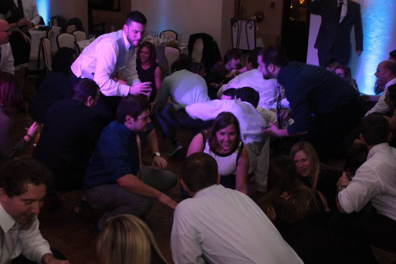 DJ Ray K reception with Uplighting at New Castle Country Club, New Castle, PA