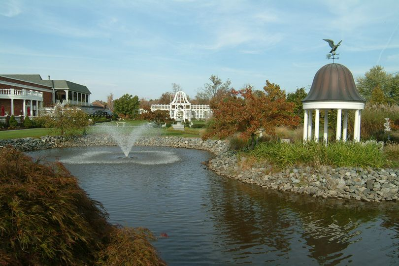 Water features and venue grounds