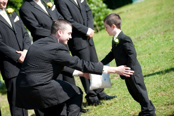 The groom and ring bearer