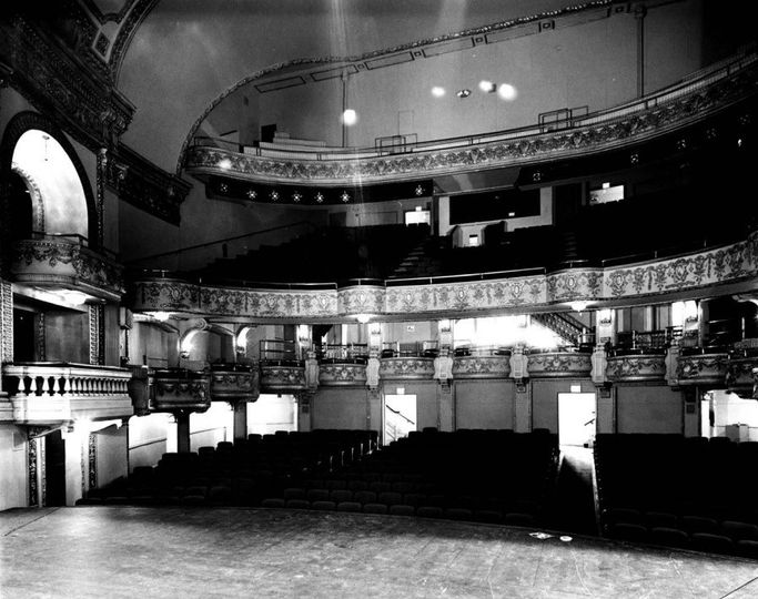An image from the stage of the historic Five Flags Theater in the late '60s.