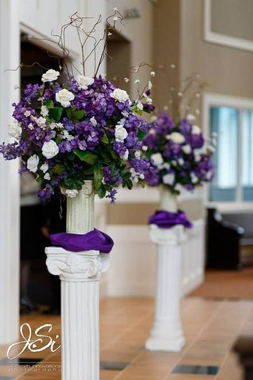 Purple flower decorations