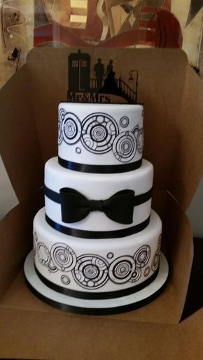 Wedding cake with bow tie