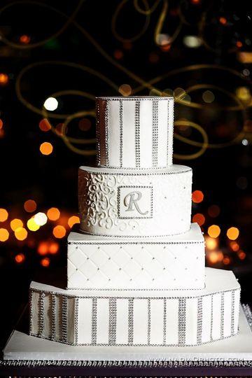 All white cake