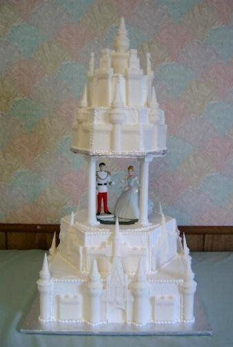 This castle cake is perfect for any fairytale wedding.  The castle pieces are made with sugar, so...