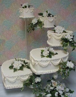 Tmx 1193777352406 Acrylic Stand Hearts Akron wedding cake