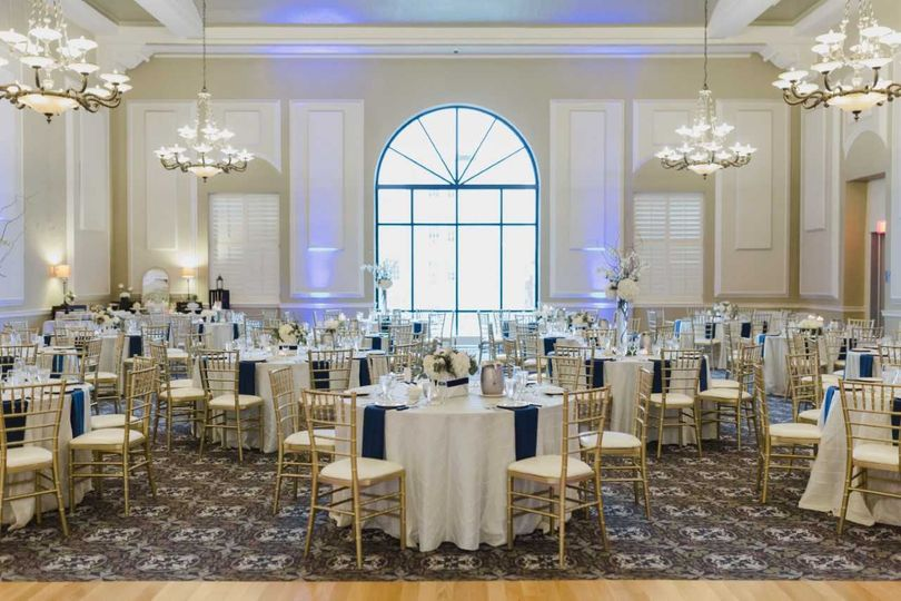 Silk Ivory, Navy & Gold weddin