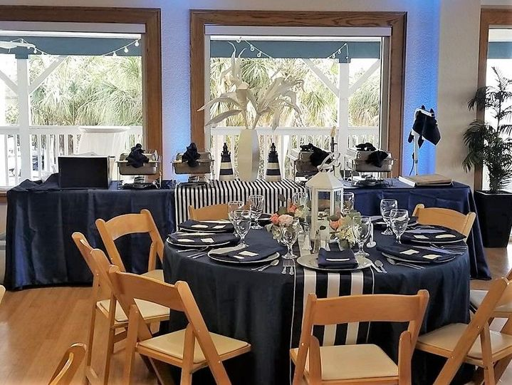 Custom Designs created for you utilizing our in-house linens, centerpieces, and accent items with...