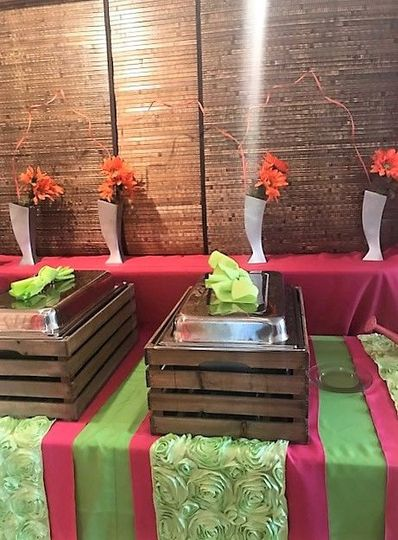 We offer creative new ways to set up your buffet-stations