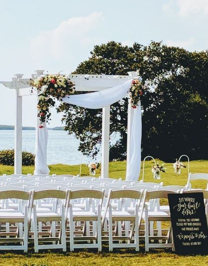 We have an inventory of five ceremony arches