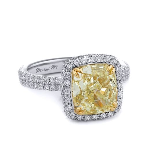 Yellow stone and diamonds