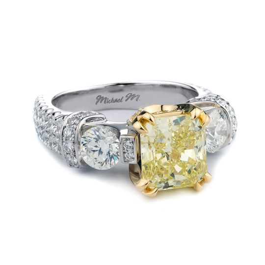 Side stone diamond ring