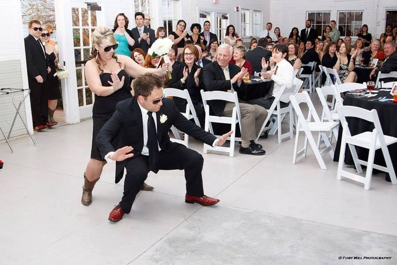Newlyweds' dance number