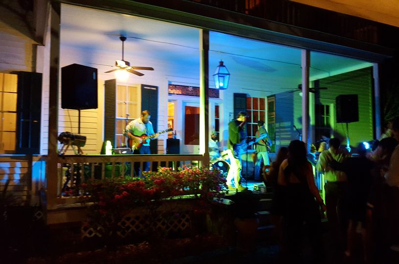Live Band on East porch.