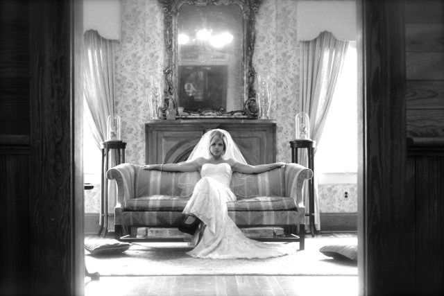 Jenni waiting in Formal Parlor.