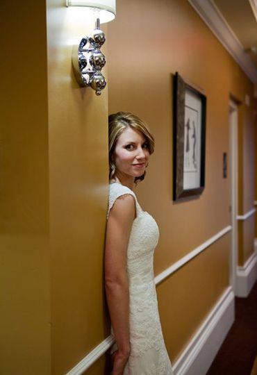 Image of a bride at a columbus ohio wedding
